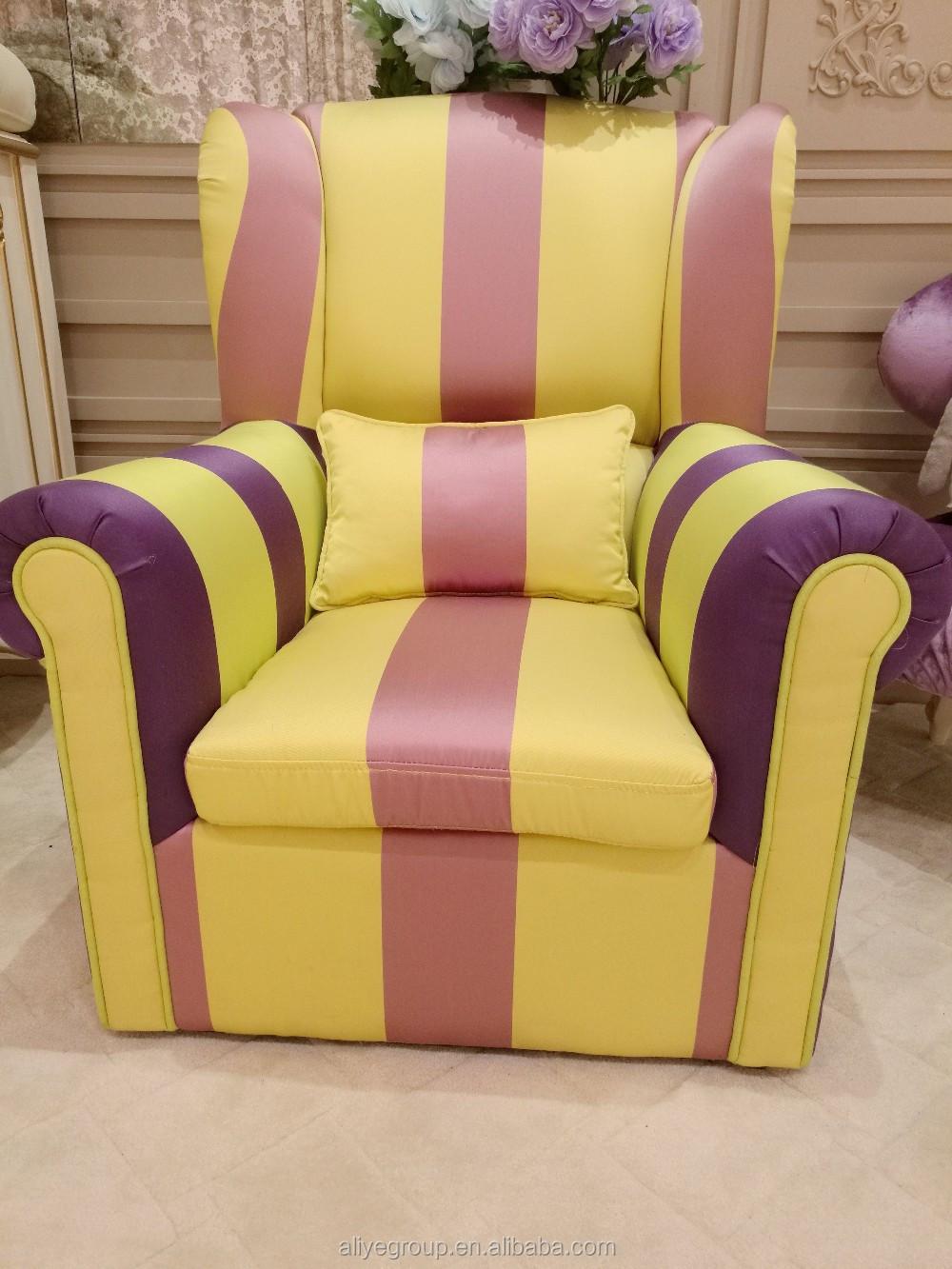 Wy504 children Sofa colourful Rainbow Fabric Kid Sofa Chair Buy