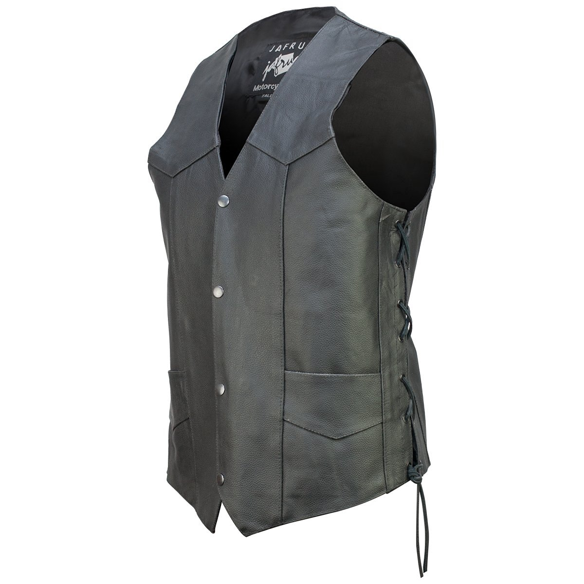 Concealed Carry Classic Biker Leather Vest 34