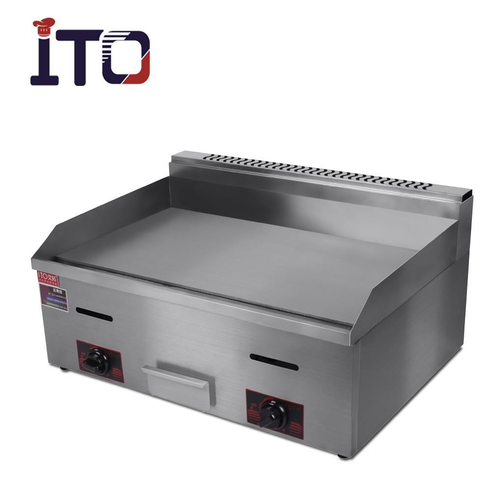 CI-720 Discount-Tischplatte aus Edelstahl für Gewerbe Teppanyaki Gasgriddle