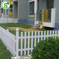 2019 New design high quality Australia style plastic PVC white plastic picket fence indoor