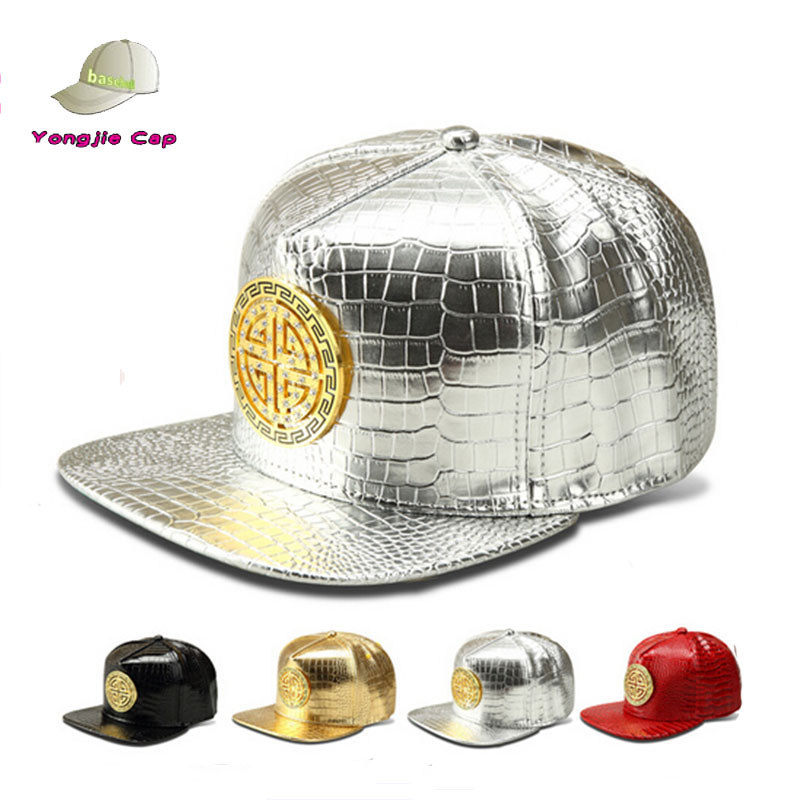 wholesale cheap price 5 panel black leather snapback caps custom flat brim hip pop hat