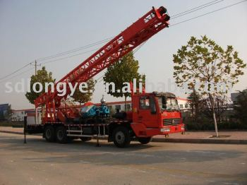 truck-mounted water well drilling rig of SLY500