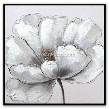 Modern style white flower diamond canvas oil painting for wall art modern style white flower diamond canvas oil painting for wall art mightylinksfo