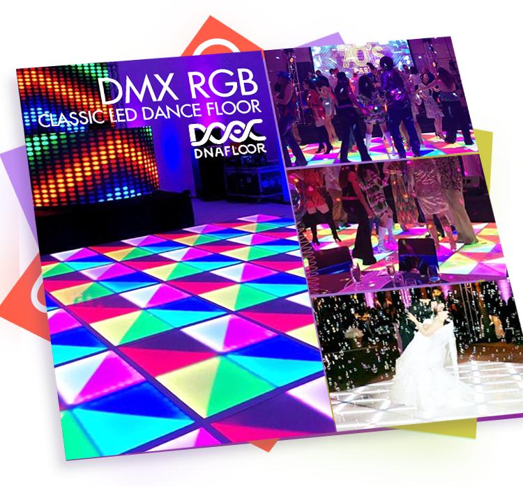 Led Dance Floor Lighted Disco Floor Lights Tiles Rgb ...