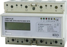 DIN Rail Three Phase Active & Reactive Electronic LCD energy meter /electricity meter /kWh meter LEM131JC/ JB/ MC/ MB/ NC/ OC