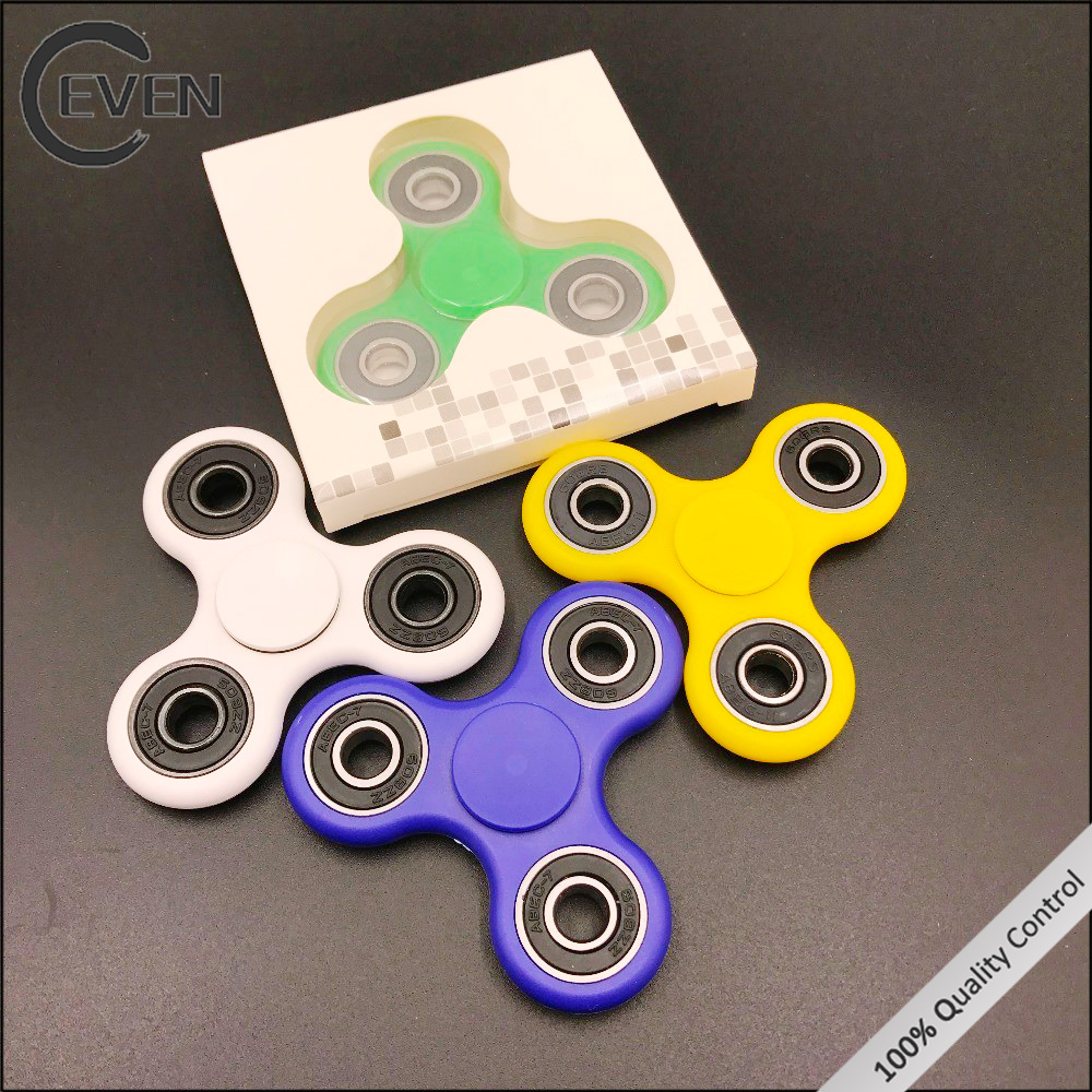 2017 Popular Stress Relase Stainless steel Ceramics Bearing Glow Hand Fidget Spinner
