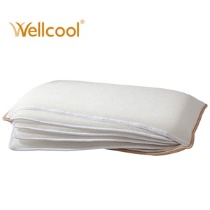 High quality breathable grade A square adjustable 100% polyester neck pillow 3d air mesh pillow 3d pillow for hotel