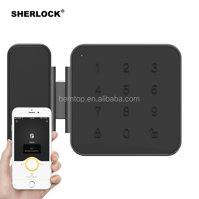 Sherlock G1 Bluetooth Integrato Blocco APP Intelligente di Controllo Password di Impronte Digitali Keyless Digitale Elettrico Serratura Della Porta di Vetro
