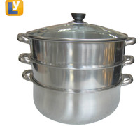 High quality 32cm multi 3 tiered stainless steel food steamer