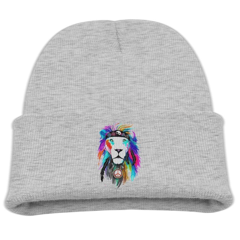 b71f82e915a Get Quotations · Lion Tribal King Unisex Kids Warm Winter Hat Knit Beanie  Skull Cap Cuff Beanie Hat Winter