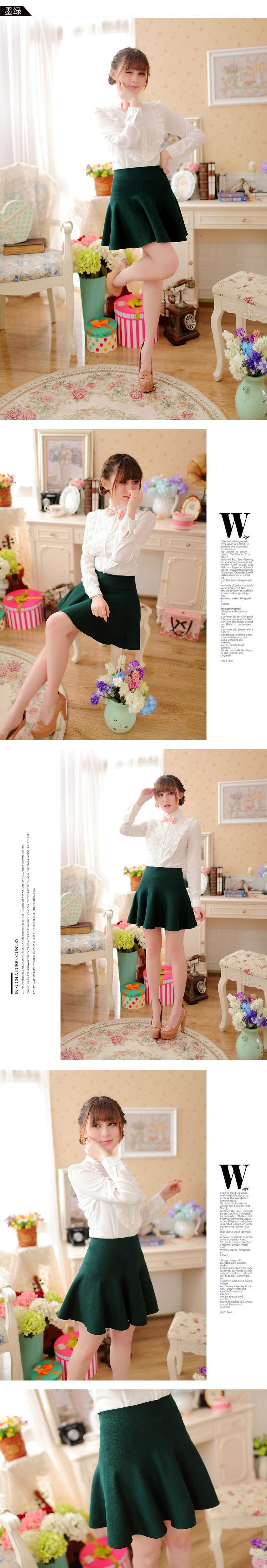 2e49c4136 2015 nuevo Otoño Invierno faldas cortas mujer alta cintura tejido lana  falda femenina talla grande plisada falda gratis ShippingC028