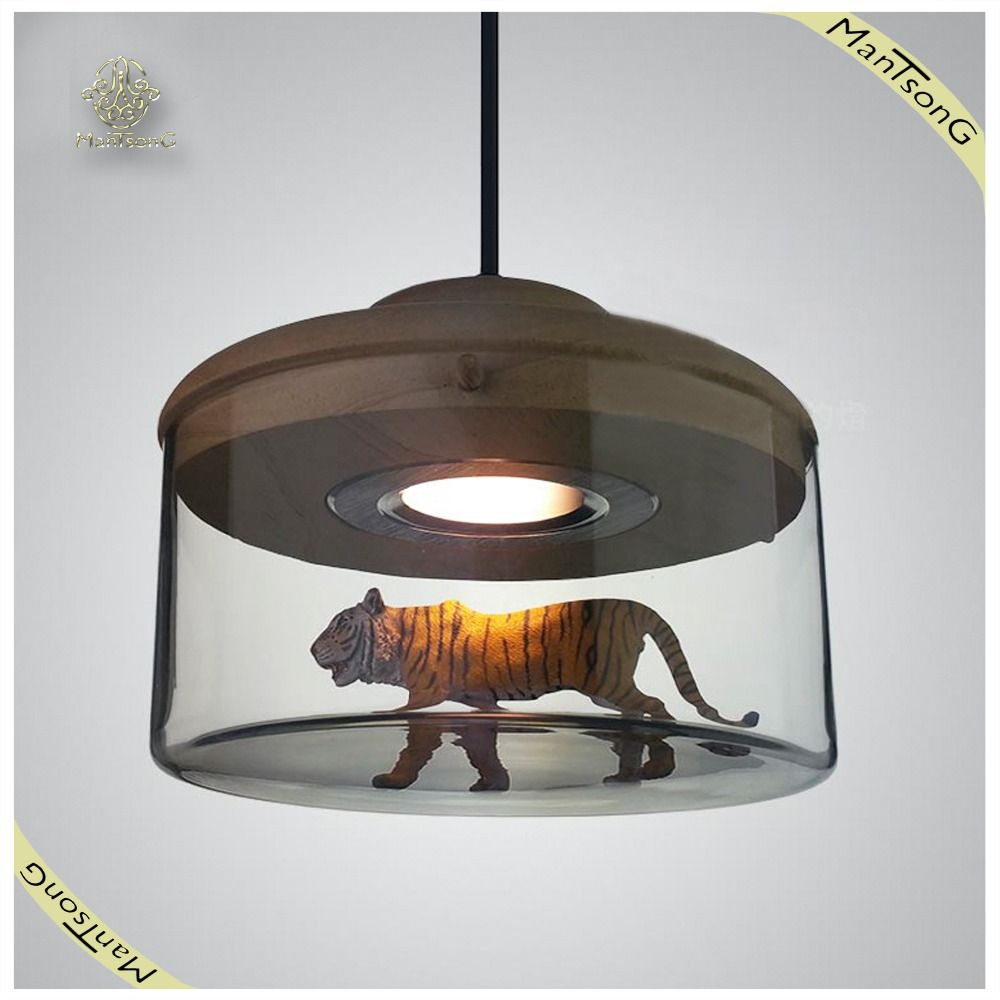 2016 newest creative dining pendant light inside with tiger