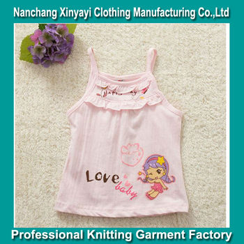 Kids clothing no minimum vest for printed girl shirt bulk for Cheap t shirt printing no minimum