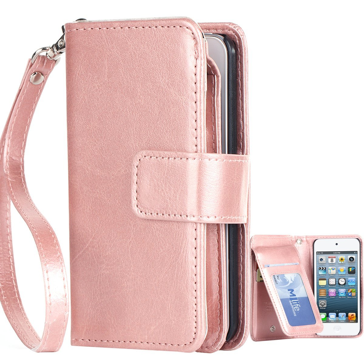 separation shoes 64b7b 612ff Buy iPod 5 Cases, iPod 6 Cases, iPod Touch 6 Wallet Case, BENTOBEN ...