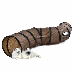 Amazing Cat playing tunnel. Crinkle tunnel for guinea pig, cat, dog, rabbit, puppy, kitten. Collapsible Fun Tunnels Play Tube fo