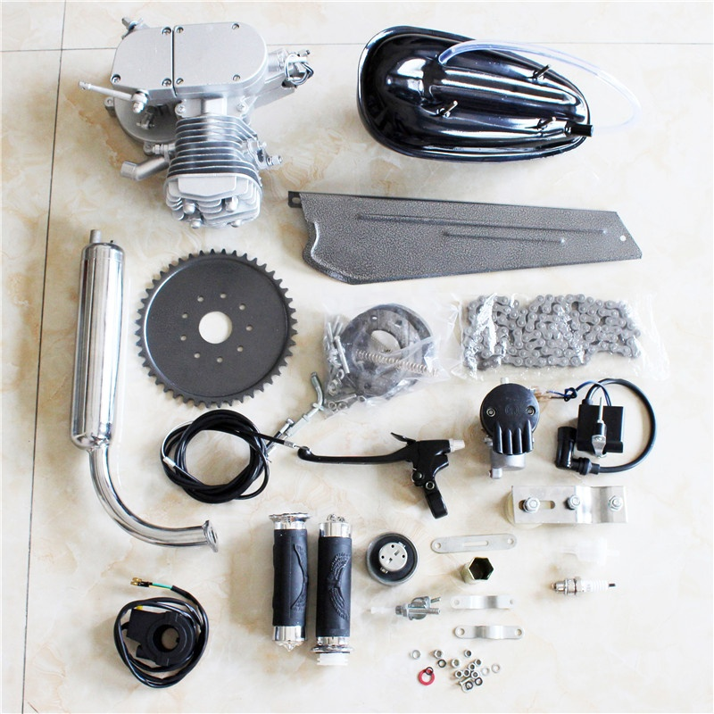 GOTOTOP 80CC Bike 2-Stroke Cycle Petrol Gas Engine Motor Kit Set Speedometer Motorized Bicycle Kit
