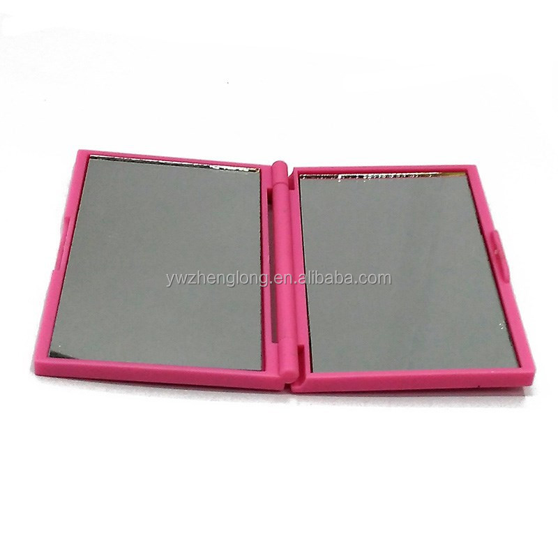 2015 fashion square shaped two way foldable pocket mirror for young people