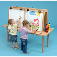 Double Faced kids cheap erasable magnetic drawing board for sale