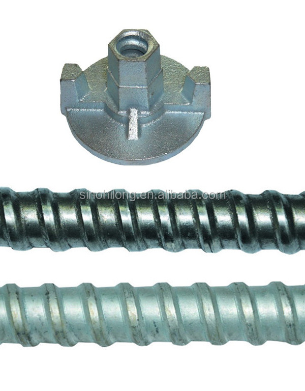 formwork tie rod / tie bar steel /Q235 or GB45 cold rolled