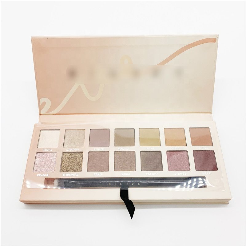 Sexy Stad eyeshadow Palette Private Label met matte glitter parel shimmer