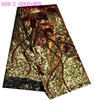 N59-2 gold red sequins net lace fabric/african style sequins lace fabric