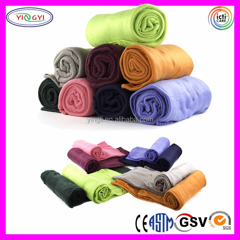 C873 Promotion Ultra Soft Fleece Throw Donation Blanket Assorted Colors Polyester Blanket for Donation