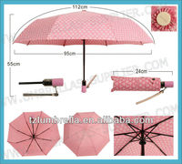 Pretty Ladies Pink Umbrella for Birthday Gifts