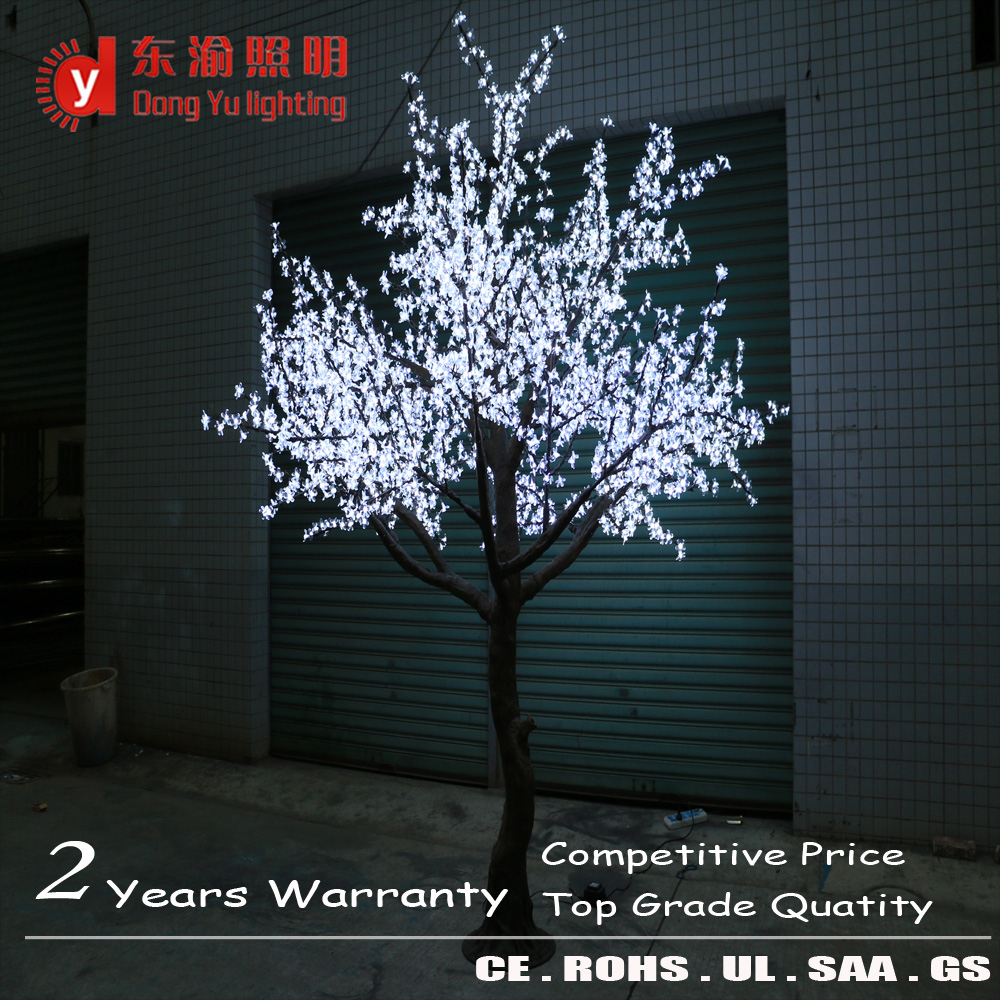 3m Cherry Tree White Led Blossom Landscape Lamps Firework Lights Solar Light Anese