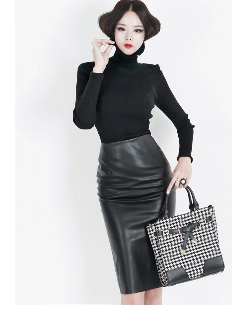 229c6d390 Get Quotations · 2015 Summer High Waist Saias Femininas Women Black Formal Office  Skirts Bodycon 7XL Plus Size Faux