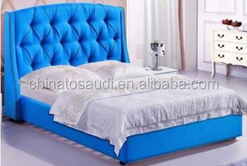 New Design Leather Bed,white Leather Bed ,antique Bedroom Furniture Set