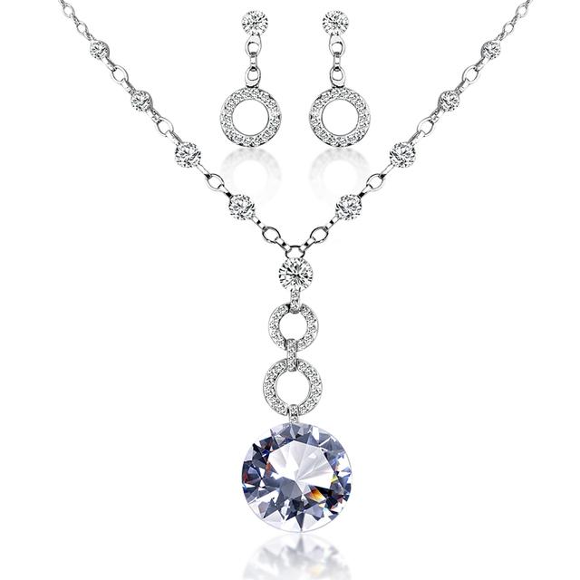 China white gold pendant settings wholesale alibaba white gold plated circle ring crystal jewelry sets aloadofball Images