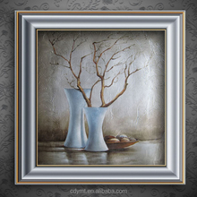 China DMT AD printing company drop ship modern glass oil painting canvas natural scenery picture