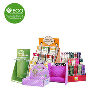 Lipsticks PDQ Blush Sticks Packaging Corrugated Paper Board Cosmetics Display Box Witn Pothook