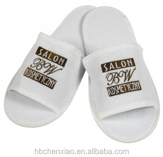 100% cotton terry towel disposable slippers with bargain price