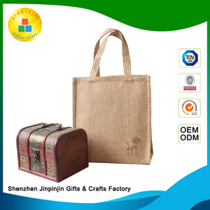 Customized free sample burlap tote bags for shopping