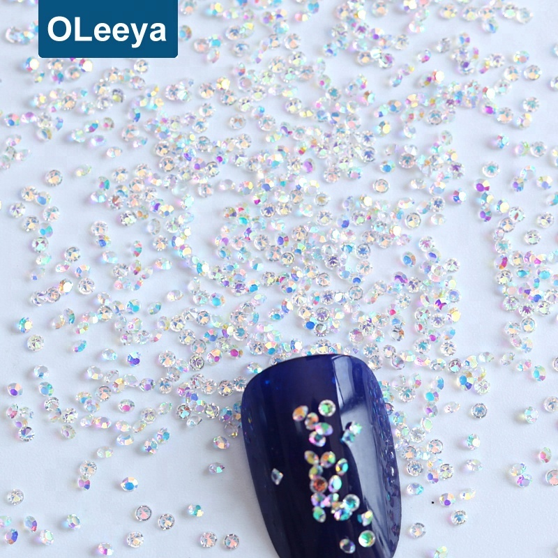 Best selling products Large Package 1kg per bag 1.1mm nail art pixie dusts rhinestone glass pixie dust for nail decoration