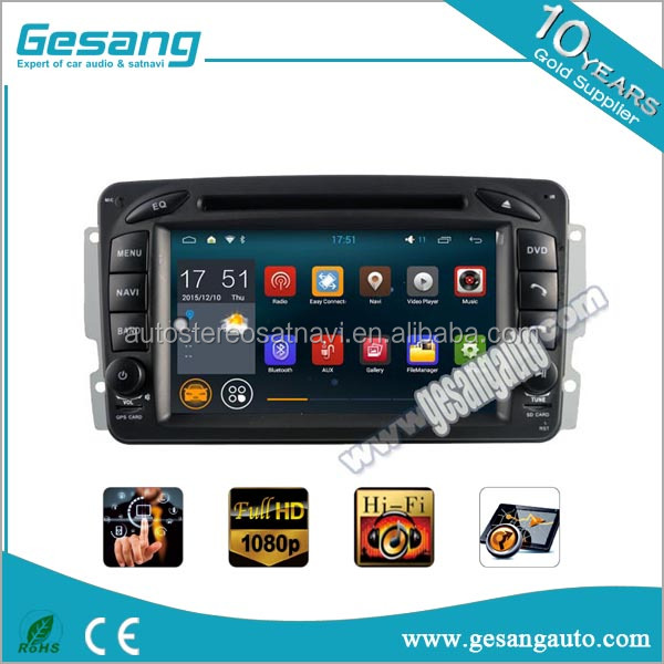 7'' Android System car dvd player gps navigation For Mercedes-Benz C class w203 built-in gps navigator
