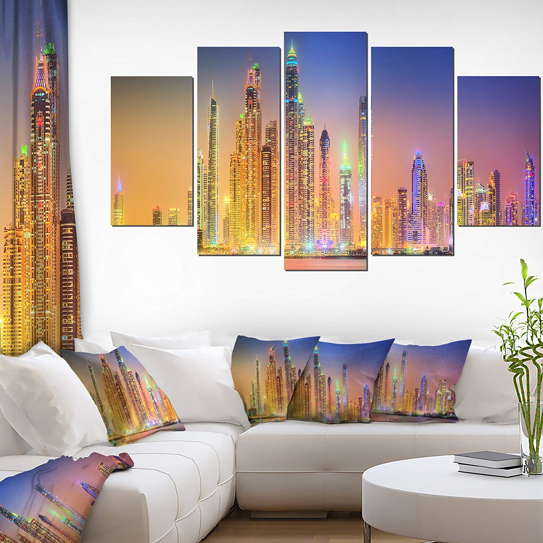 Dubai Marina Skyscrapers Panorama Cityscape Home Decor Wall Canvas Art Wall Photgraphy Artwork Print