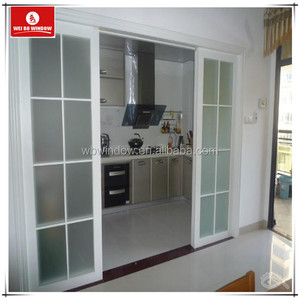 high quality PVC/UPVC series frosted glass toilet/bathroom sliding doors