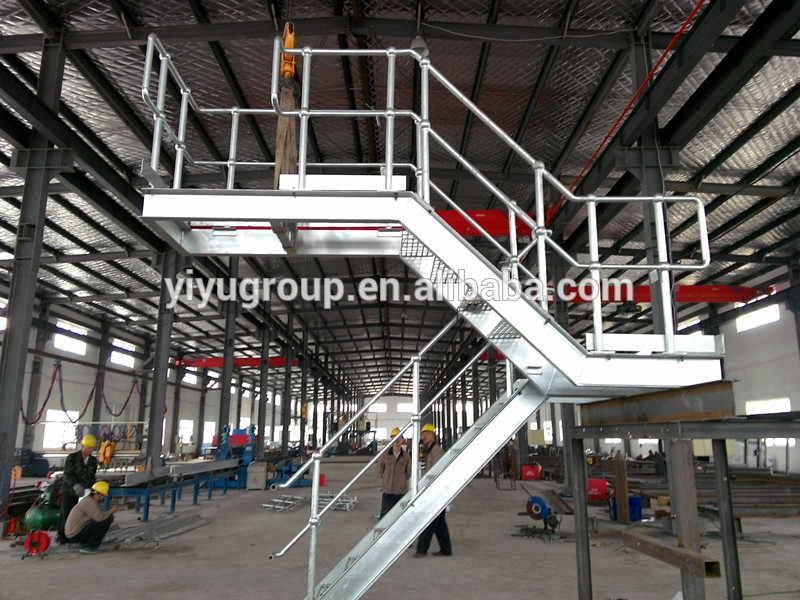 Great Outdoor Steel Stairs Landing For Event Or Warehouse