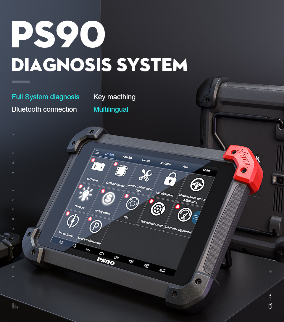 Newest XTOOL PS90 Full system diagnosis same function with AUTEL MaxiSYS Pro MS908P