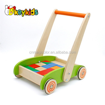 2017 wholesale cheap wooden baby walkers for boys new design wooden baby walkers for boys hot sale wooden baby walkers W16E066