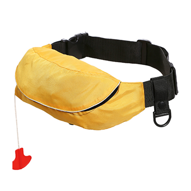 Watertightness nylon material waist bag life vest for fishing