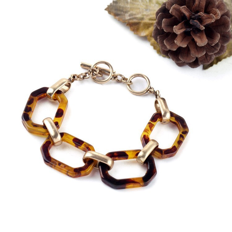 Thailand Jewelry Manufacturer c + isabel Designs Layerable Links Tortoise Heirloom Tortoise Link Bracelet B1286