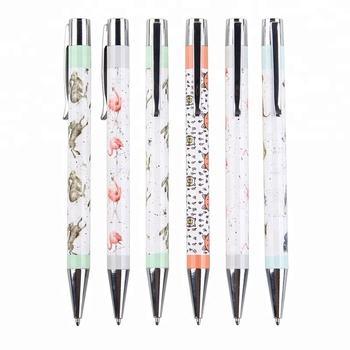 High quality printed stainless steel metal ballpoint pen