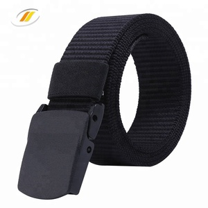 Breathable Nylon Canvas Military Tactical Men Waist Belt With Plastic Buckle