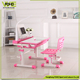 Children desk reading writing home furniture large storage cheap study table with attached chair