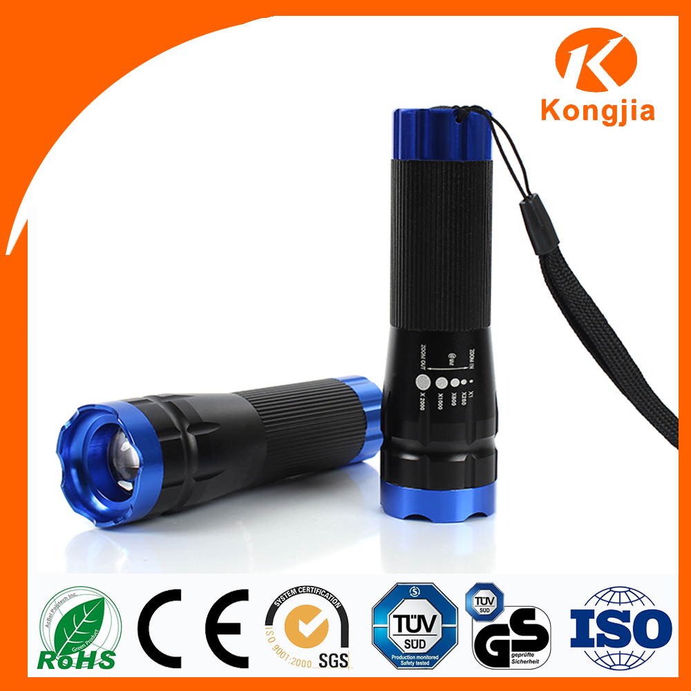 Chinese Supply AAA dry Battery Police Usage Multi function Light Cheap Aluminum Led 3W Strong Flashlight