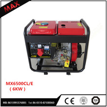 2017 Latest Excellent super 186F Diesel Generator Portable 6KW for sale