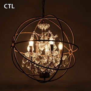 Vintage pendant lighting industrial lighting lamps crystal chandeliers wrought iron